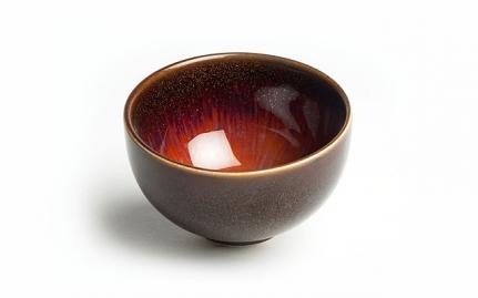 Καφέ και χρυσό κεραμική κούπα Jin Huang