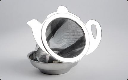 Ανοξείδωτο σουρωτήρι Τσαγιέρα με βάση