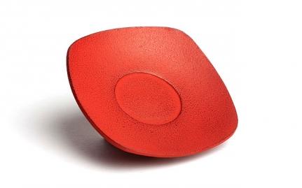 Red cast iron coaster Zen