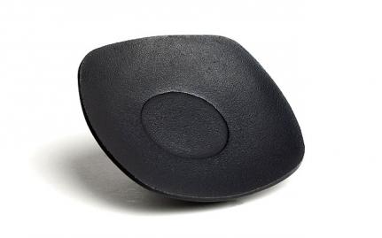 Black cast iron coaster Zen