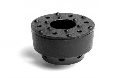 Black cast iron warmer Zen