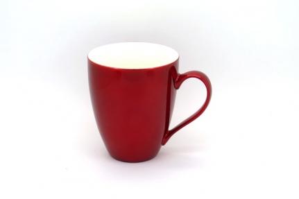 Μεγάλη μεταλλικό-κόκκινο πορσελάνινη κούπα-mug 0,45 L