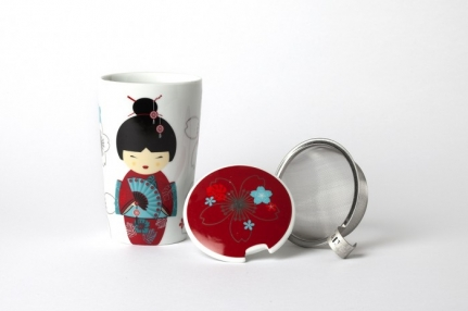 Μεγάλη πορσελάνινη κούπα-mug 0,35 L Κόκκινη γκεϊσα