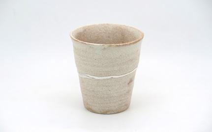 Beige ceramic cup Shizuoka