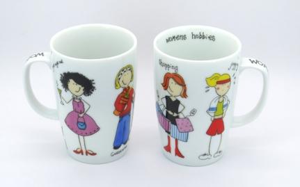 Porcelain tea mug Jogging