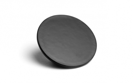 Round black laquer coaster Shippo